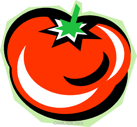 tomato Royalty Free Vector Clip Art illustration vc010812