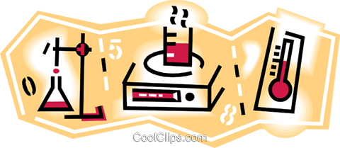 laboratory work Royalty Free Vector Clip Art illustration vc010814