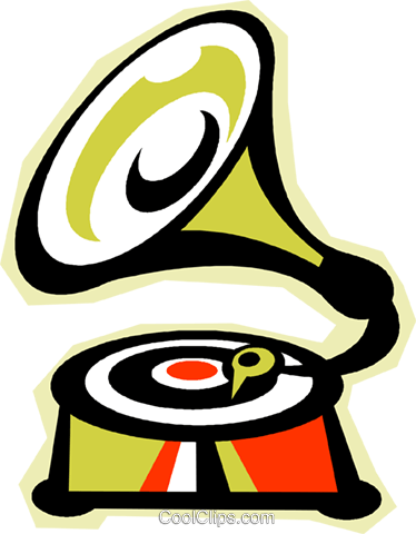 gramophone Royalty Free Vector Clip Art illustration vc010820