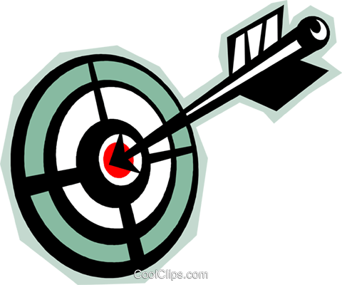 bull's-eye Royalty Free Vector Clip Art illustration vc010825
