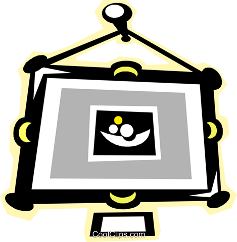 painting hanging in a frame Royalty Free Vector Clip Art illustration vc010827