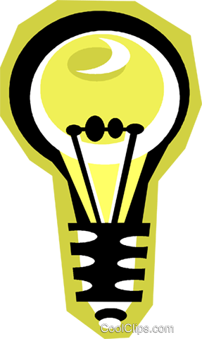 light bulb Royalty Free Vector Clip Art illustration vc010831