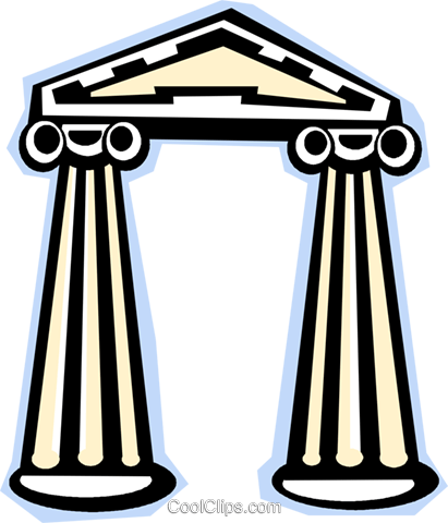 Classical columns Royalty Free Vector Clip Art illustration vc010832