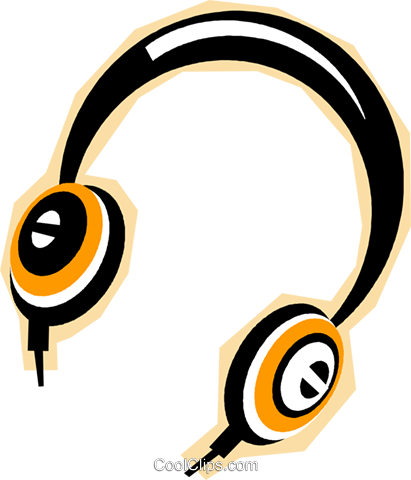 headphones Royalty Free Vector Clip Art illustration vc010833