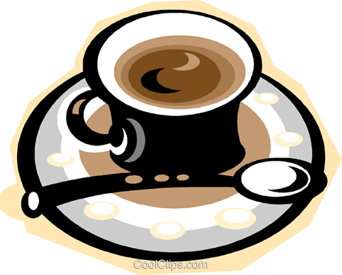 espresso coffee Royalty Free Vector Clip Art illustration vc010834
