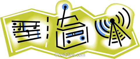 radio broadcasting Royalty Free Vector Clip Art illustration vc010842
