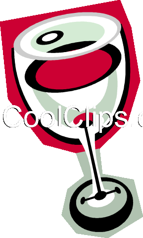 glass of wine Royalty Free Vector Clip Art illustration vc010844