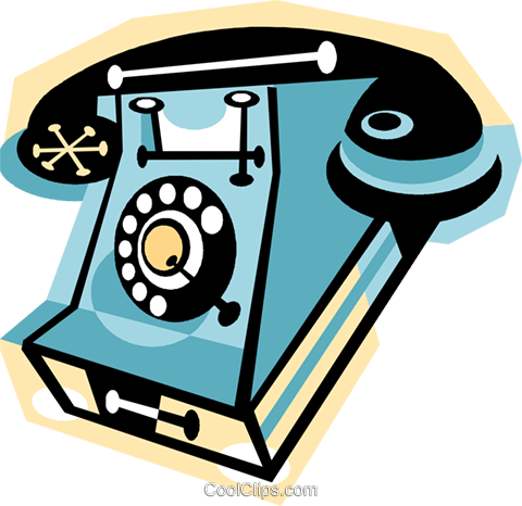 telephone Royalty Free Vector Clip Art illustration vc010848