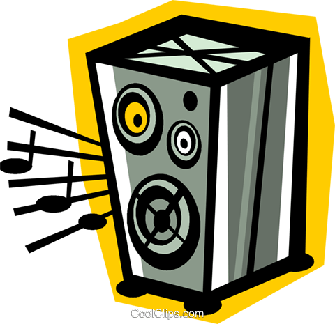 stereo speaker Royalty Free Vector Clip Art illustration vc010850