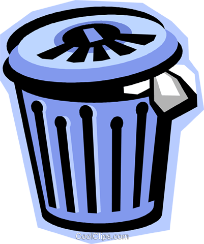 garbage can, waste, trash Royalty Free Vector Clip Art illustration vc010852