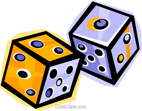 dice Royalty Free Vector Clip Art illustration vc010854