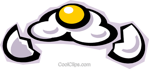 fried egg Royalty Free Vector Clip Art illustration vc010855