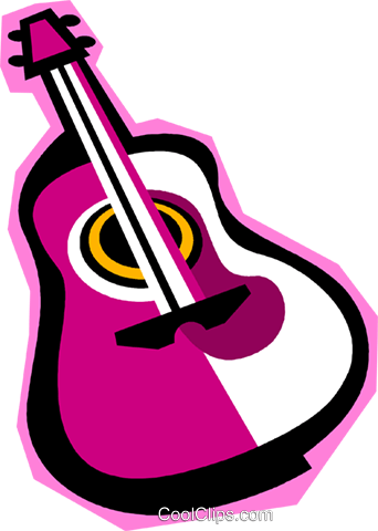 guitar Royalty Free Vector Clip Art illustration vc010858