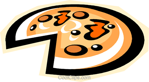 pizza Royalty Free Vector Clip Art illustration vc010863