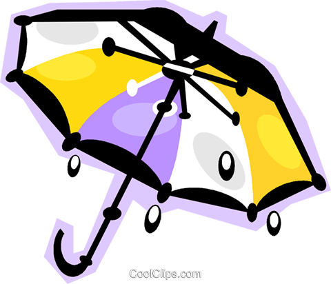 umbrella Royalty Free Vector Clip Art illustration vc010867