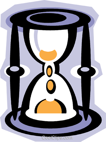 hourglass Royalty Free Vector Clip Art illustration vc010872
