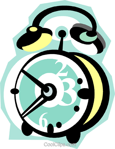 alarm clock Royalty Free Vector Clip Art illustration vc010873