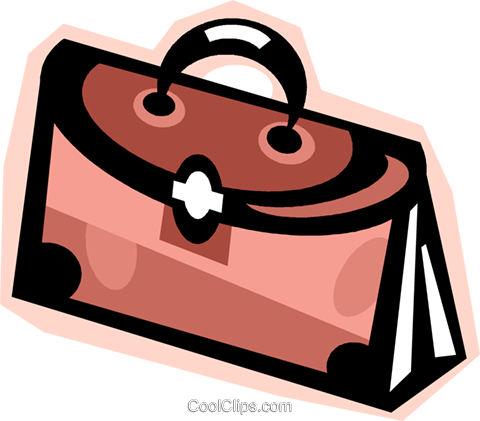 briefcase Royalty Free Vector Clip Art illustration vc010874