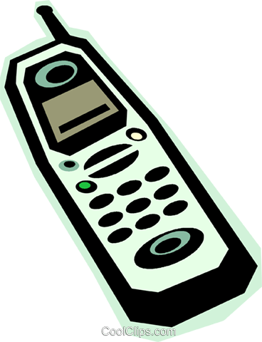 cellular phone Royalty Free Vector Clip Art illustration vc010878