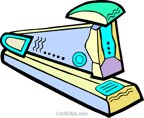 stapler Royalty Free Vector Clip Art illustration vc010889