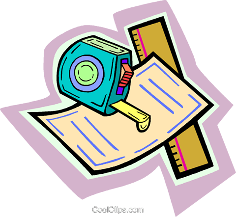 measuring tape Royalty Free Vector Clip Art illustration vc010891