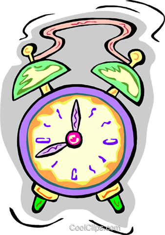 alarm clock Royalty Free Vector Clip Art illustration vc010895