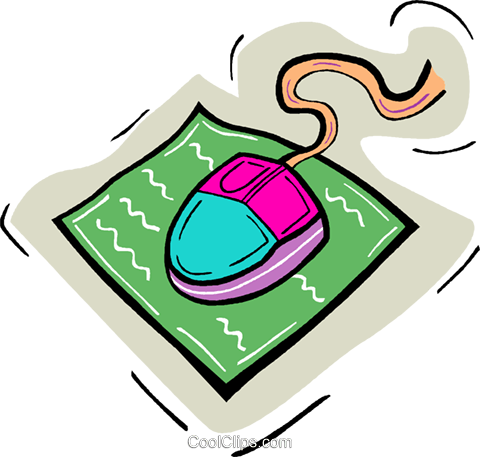 computer mouse Royalty Free Vector Clip Art illustration vc010898
