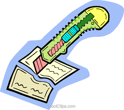 utility knife Royalty Free Vector Clip Art illustration vc010902