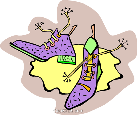 shoes Royalty Free Vector Clip Art illustration vc010903