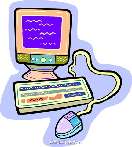 computer Royalty Free Vector Clip Art illustration vc010906