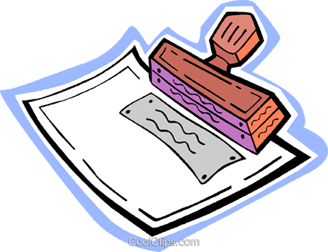 rubber stamp Royalty Free Vector Clip Art illustration vc010908