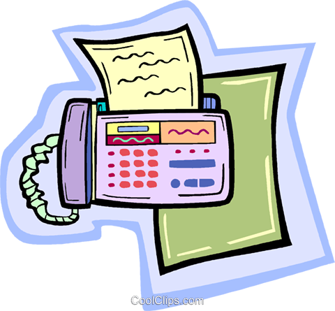 fax machine Royalty Free Vector Clip Art illustration vc010916