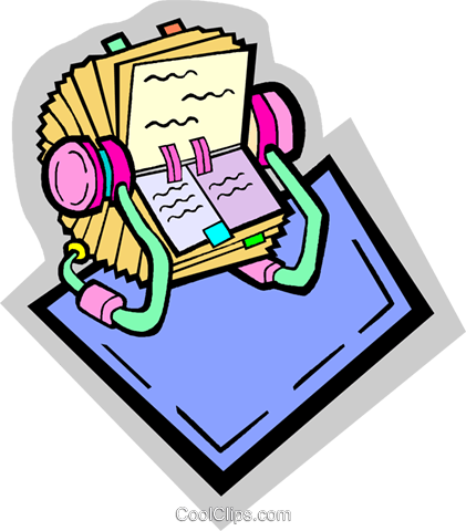 rolodex Royalty Free Vector Clip Art illustration vc010918
