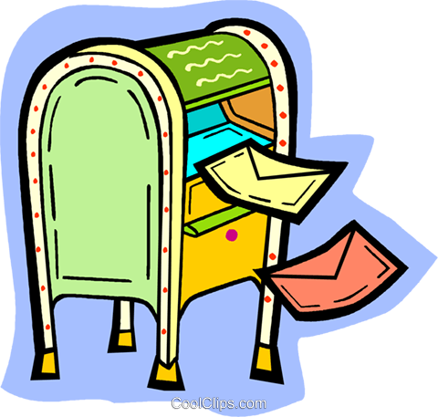 mailbox Royalty Free Vector Clip Art illustration vc010919