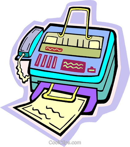 fax machine Royalty Free Vector Clip Art illustration vc010928