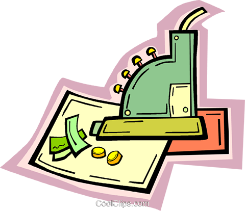 cash register Royalty Free Vector Clip Art illustration vc010929