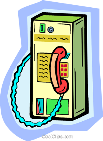 public telephone Royalty Free Vector Clip Art illustration vc010931
