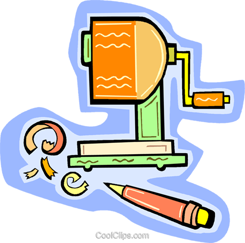 pencil sharpener Royalty Free Vector Clip Art illustration vc010935