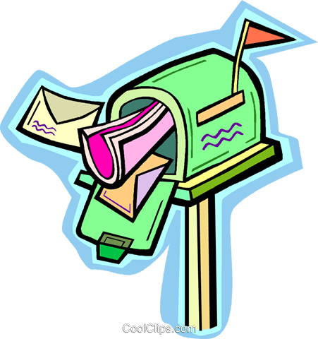 mailbox Royalty Free Vector Clip Art illustration vc010936