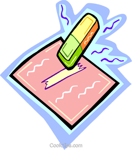 eraser Royalty Free Vector Clip Art illustration vc010938