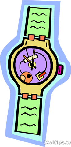 wristwatch Royalty Free Vector Clip Art illustration vc010943