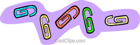 paperclips Royalty Free Vector Clip Art illustration vc010945