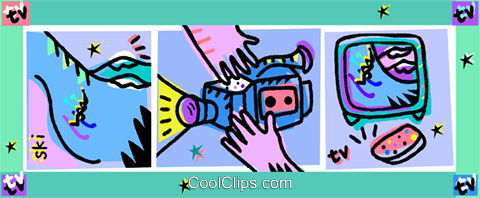video camera Royalty Free Vector Clip Art illustration vc010952