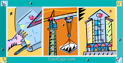 construction crane Royalty Free Vector Clip Art illustration vc010953