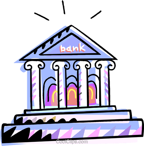bank Royalty Free Vector Clip Art illustration vc010968