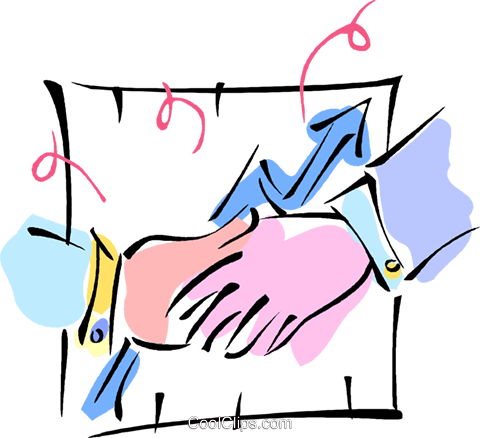 shaking hands Royalty Free Vector Clip Art illustration vc010979