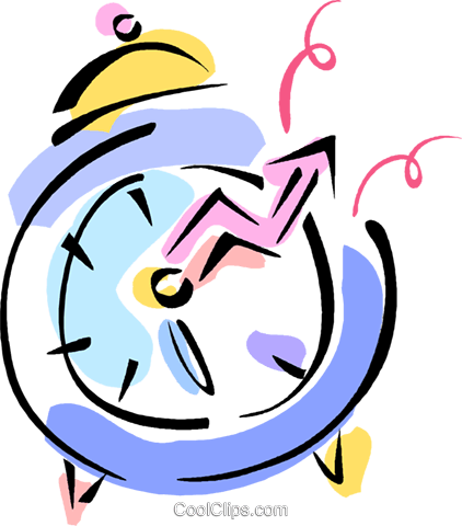 alarm clock Royalty Free Vector Clip Art illustration vc010995