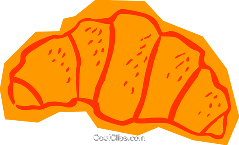 croissant Royalty Free Vector Clip Art illustration vc011039
