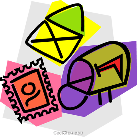 mail delivery Royalty Free Vector Clip Art illustration vc011042