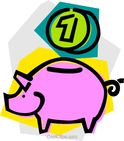 piggy bank Royalty Free Vector Clip Art illustration vc011048